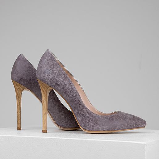 Туфлі замшеві на 10 см