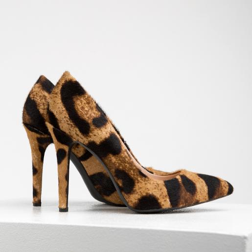 Лодочки з фактурної леопардової шкіри
