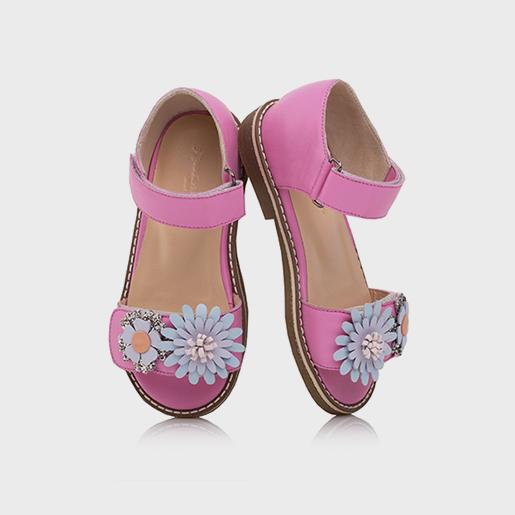 Рожеві сандалі з з'ємними квітами
