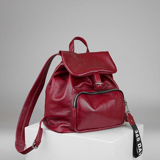 Рюкзак з червоної шкіри флотар
