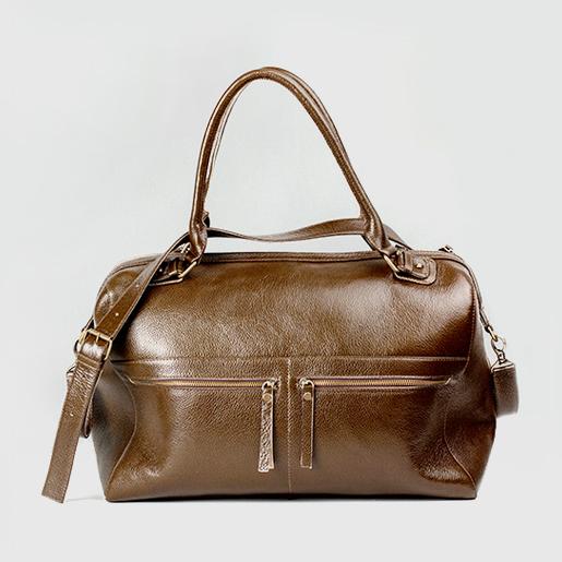 Дорожня шкіряна сумка