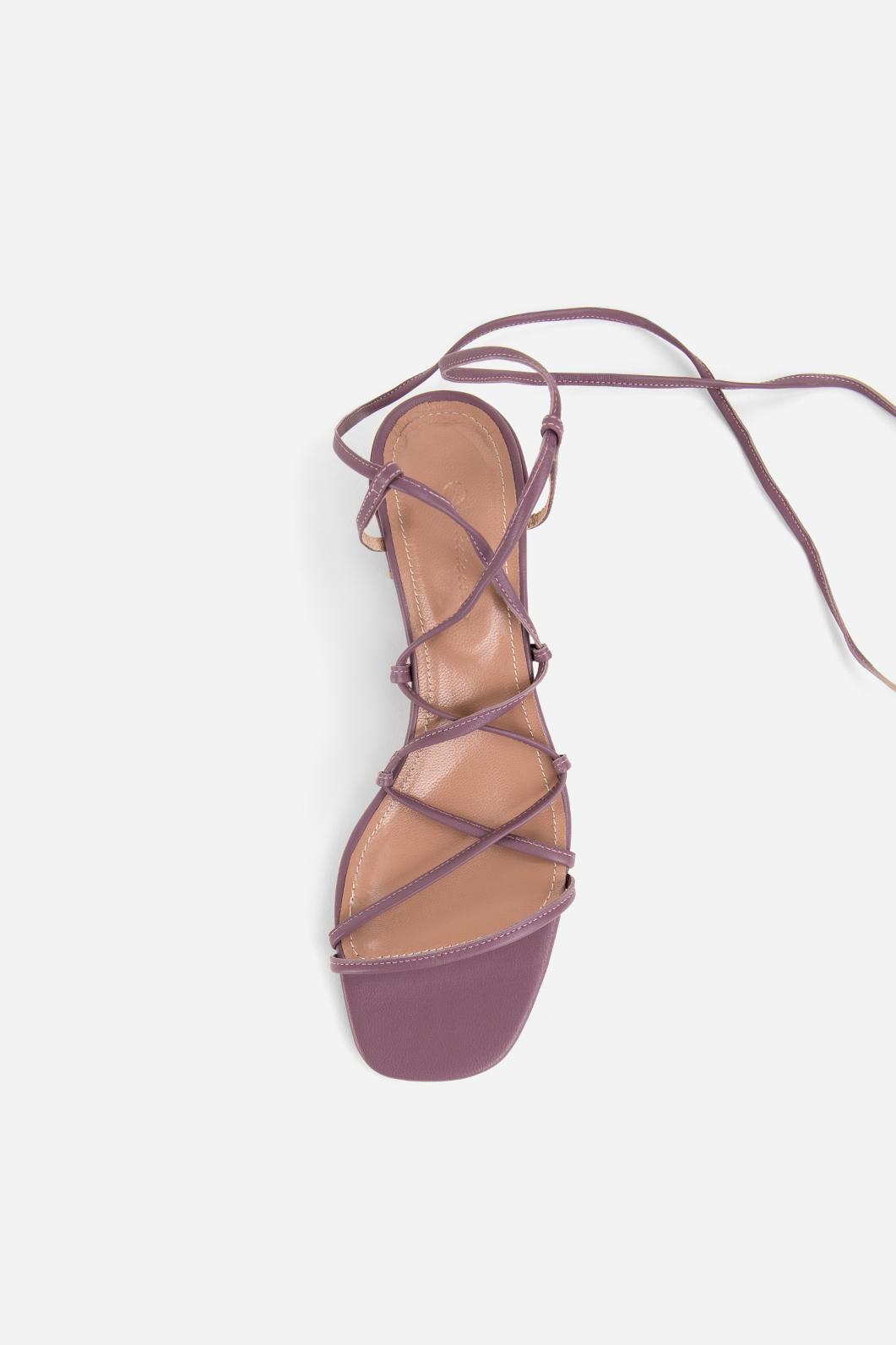 Purple Leather Heel 5 Sandals Mid Cm xWdeQroECB